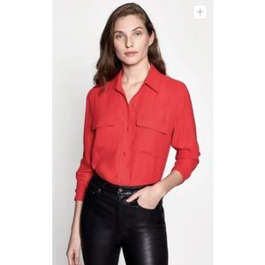 Equipment Signature Silk Button Down Blouse